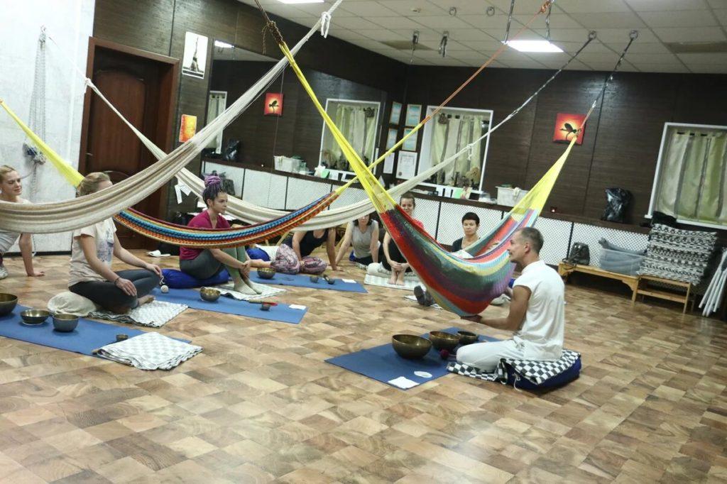 Поющие чаши Медитация в Гамаке